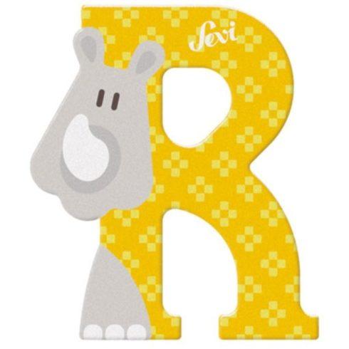 Sevi Fa betű állatos - R sárga