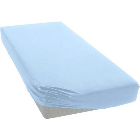 60*120 cm pamut,gumis lepedő - kék