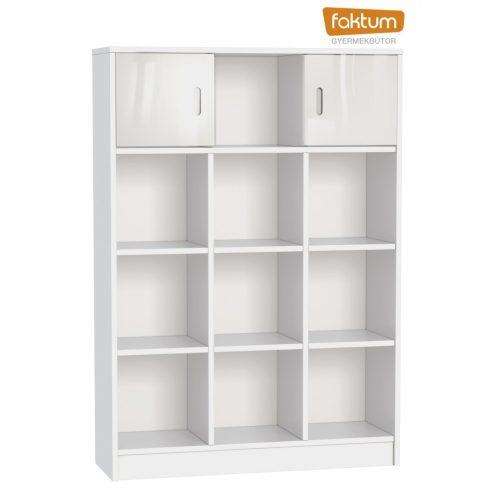 Faktum Alda Jégfehér széles nyitott tároló - Fehér / magasfényű fehér