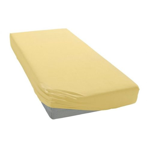 60*120 cm pamut,gumis lepedő - sárga