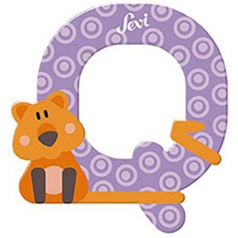 Sevi Fa betű állatos - Q lila