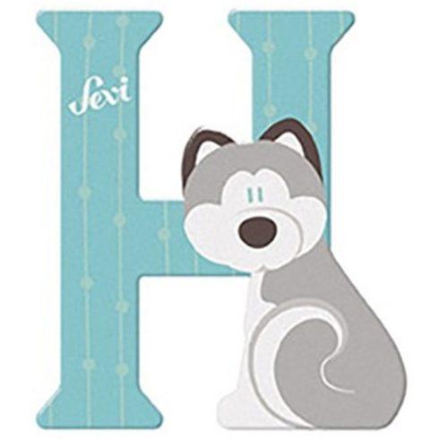 Sevi Fa betű állatos - H pasztell kék
